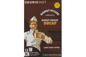 Donut House Collection Donut House Decaf Light Roast K-Cup Packs - 12 PK