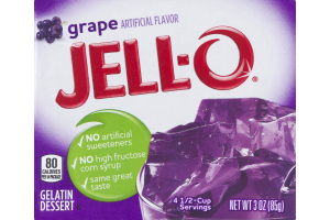 Jell-O Gelatin Dessert Grape