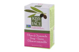 Kiss My Face Soap Bar Olive & Chamomile