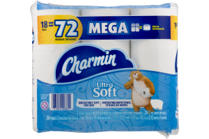 Charmin Ultra Soft Bathroom Tissue Mega Rolls - 18 CT