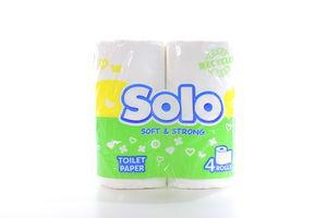 Бумага туалетная Solo 4шт