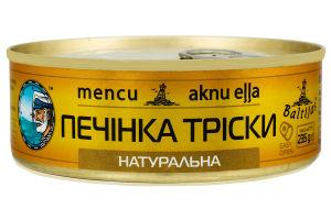 Печень трески натуральная Baltijas ж/б 235г
