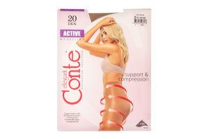 Колготы женские Conte Active Modelling 20den 2-S bronz