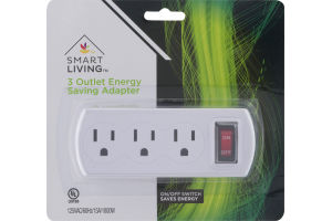 Smart Living 3 Outlet Energy Saving Adapter