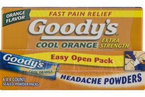Goody's Headache Powders Easy Open Pack Cool Orange