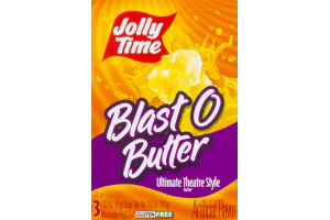 Jolly Time Blast O Butter Ultimate Theatre Style Microwave Pop Corn - 3 CT