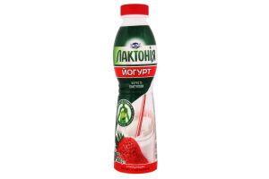 Йогурт з лактулозою з наповнювачем полуниця 1,5 % Лактонія (питний 0,500 кг)