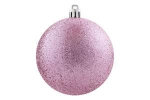 Украшение елочное Шар розовый пластик 8см D-001