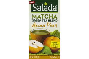 Salada Matcha Green Tea Blend Tea Bags Asian Pear - 20 CT