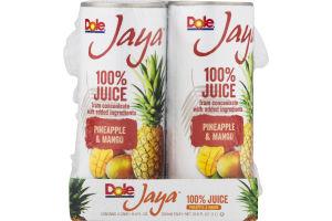 Dole Jaya 100% Juice Pineapple & Mango - 4 PK