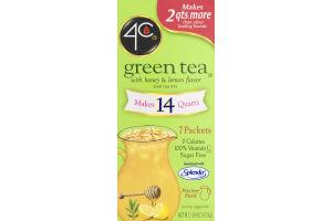 4C Green Tea Iced Tea Mix With Honey & Lemon - 7 CT