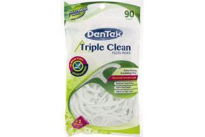 DenTek Triple Clean Floss Picks Mouthwash Blast - 90 CT