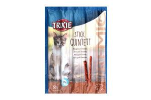"""Ласощі для котів Палички """"PREMIO Quadro-Sticks"""" ягня/індичка для котів 4шт.х 5г,42723,Trixie"""
