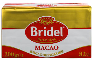 Масло 82% кисловершкове Bridel м/у 200г