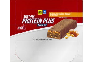 MET-Rx Protein Plus Protein Bar Chocolate Roasted Peanut - 9 CT