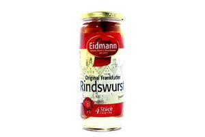 Сосиски говяж.конс.Eidmann Rindswurst 4шт 560г с/б (Герм.)