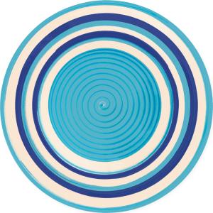 Тарелка голубая 26,5см D004