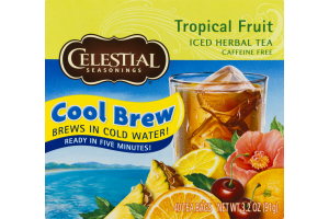 Celestial Seasonings Iced Herbal Tea Tropical Fruit - 40 CT