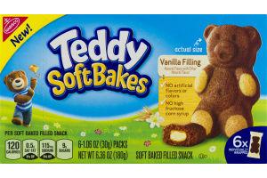 Teddy Soft Bakes Vanilla Filling - 6 CT