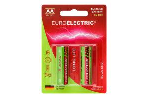 Батарейки лужні АА 1.5V LR6 Euroelectric 2шт