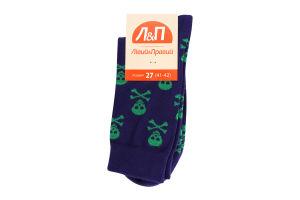 Шкарпетки чоловічі Лівий&Правий Море 27 фіолет