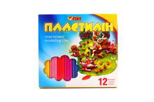 Пластилін Тікі 12 кольорів 52115-ТК