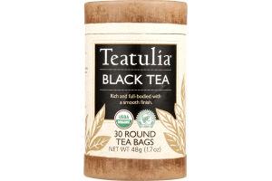 Teatulia Black Tea Round Bags - 30 CT
