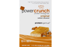 Power Crunch Protein Enegry Bar Original Salted Caramel - 5 CT