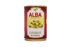 Оливки без косточки Alba Food ж/б 300мл