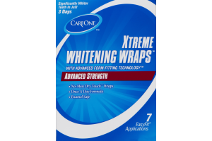 CareOne Xtreme Whitening Wraps Advanced Strength - 7 CT