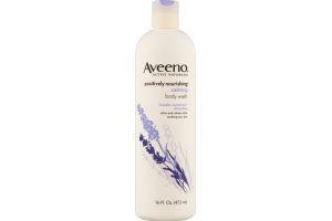 Aveeno Active Naturals Positively Nourishing Calming Body Wash Lavender Chamomile + Ylang Ylang