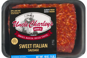 Uncle Charley's Sausage Co. Sweet Italian Sausage