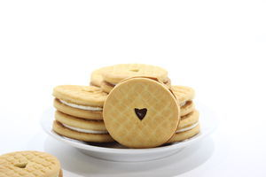 Печиво Ажур полуниця-крем,кг(4)