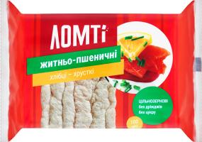 Хлібці житньо-пшеничні Ломті м/у 100г