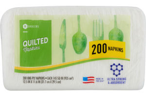 SE Grocers Napkins Quilted - 200 CT