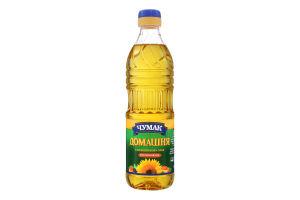 Олія соняшникова нерафінована Домашня Чумак п/пл 0.5л