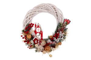 Прикраса новорічна Вінок Розкіш Mislt 1шт