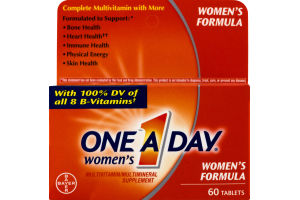 One A Day Women's Multivitamin/Multimineral Supplement Women's Formula Tablets - 60 CT