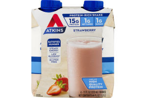 Atkins Strawberry Shake - 4 CT