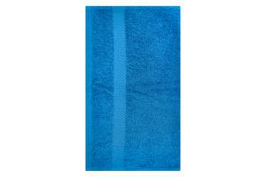 Полотенце махровое синее 40х70см 400г/м2 Саффран 1шт