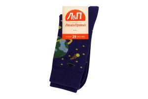 Шкарпетки чоловічі Лівий&Правий Космос 29 фіолет