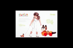 Игрушка Cubika Котик-каталка деревянная