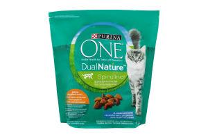 Корм для котов с спирулиной DualNature One д/п 1.4кг