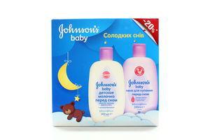 Набор Johnson's Baby Сладкий сон пена д/куп 300мл+молочко 300мл к/у