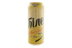 Пиво 0.5л 5% светлое нефильтрованное пастеризованное Белое Чернігівське ж/б