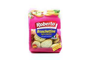 Сухарики со вкусом чеснока и базилика Roberto м/у 100г