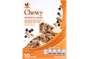 Ahold Granola Bars Chewy Chocolate Chip Peanut Butter - 10 CT