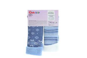 CONTE-KIDS SOF-TIKI Шкарпетки дитячі (2 пари) р.14 703 білий-джинс