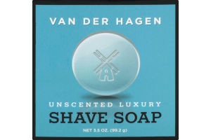 Van Der Hagen Shave Soap Unscented Luxury