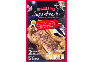 Bumble Bee SuperFresh Salmon with Garlicky Black Pepper and Extra Virgin Olive Oil - 2 CT